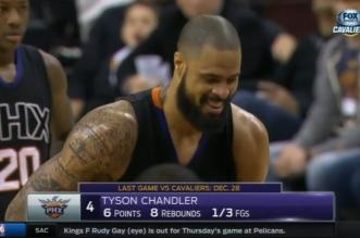 Tyson Chandler se marre et lâche un horrible airball