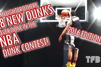 Vidéo: 58 dunksjamais réalisés au concours de dunk