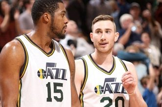 Gordon Hayward et Derrick Favors