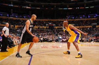 Kobe Bryant et Tony Parker