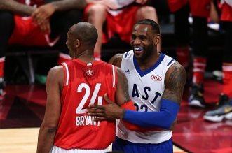 LeBron James et Kobe Bryant All star game