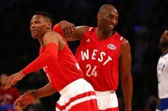 Russell Westbrook et Kobe Bryant