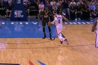Russell Westbrook eurostep