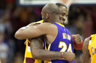 kobe Bryant et LeBron James cavaliers et Lakers