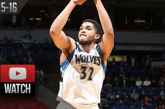 Les highlights de Karl-Anthony Towns (35 pts, 11 rbds) et Andrew Wiggins (26 pts)