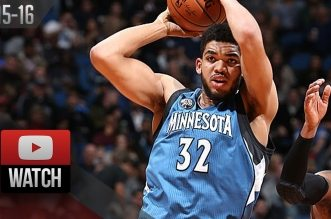 Les highlights de Karl-Anthony Towns (26 pts, 17 rbds) et Jahlil Okafor (22 pts, 17 rbds)
