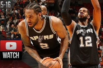 Les highlights de Kawhi Leonard (23 pts) et LaMarcus Aldridge (28 pts)