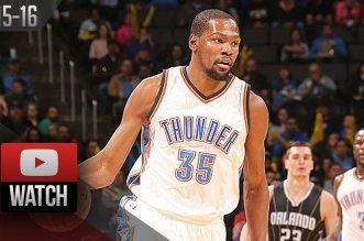 Les highlights de Kevin Durant (37 pts) et du duel Westbrook (triple-double) – Oladipo (37 pts)
