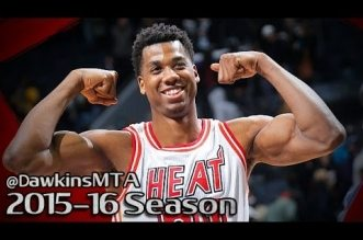 Les highlights d'Hassan Whiteside (triple-double), Dwyane Wade (22 pts) et Chris Bosh (20 pts)