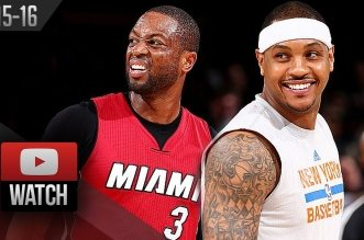 Les highlights du duel Dwyane Wade (26 pts) – Carmelo Anthony (25 pts)