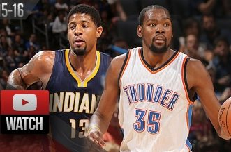 Les highlights du duel Paul George (22 pts) – Kevin Durant (31 pts)