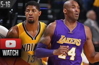 Les highlights du duel Paul George (21 pts) – Kobe Bryant (19 pts)