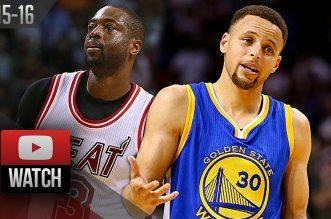 Les highlights du duel Stephen Curry (42 pts) – Dwyane Wade (32 pts) et les 33 pts de Thompson