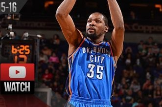 Les highlights du duo Kevin Durant (32 pts) – Russell Westbrook (29 pts)