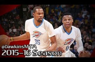 Les highlights du duo Russell Westbrook (23 pts, 9 rbds, 10 asts) – Kevin Durant (23 pts)