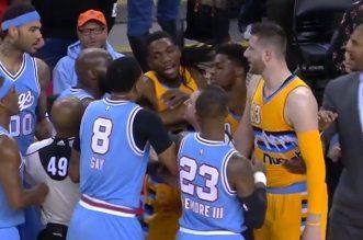 Vidéo: l'embrouille entre les Kings et les Nuggets