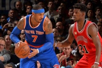 Carmelo Anthony et Jimmy Butler