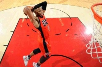 Russell Westbrook dunk thunder