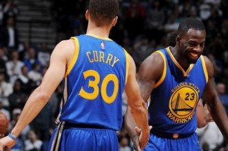 Stephen Curry et draymond Green