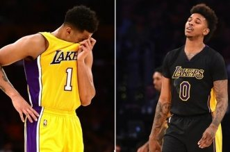 d'angelo Russell et Nick Young