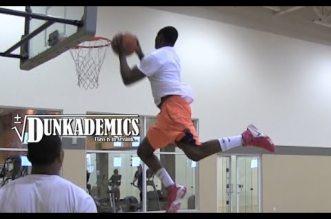 La session de dunks de Daniel Kabeya, 1m75 et plus d'1m20 de détente