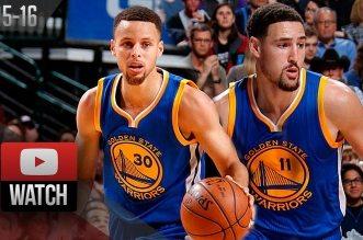 Les highlights de Klay Thompson (39 pts à 10/15 à 3-pts) et Stephen Curry (31 pts, 9 rebs, 10 pds) contre Dallas