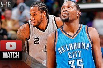 Les highlights du duel Kawhi Leonard – Kevin Durant