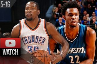 Les highlights du duel Kevin Durant (28 pts) – Andrew Wiggins (20 pts)