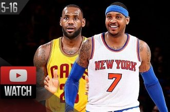 Les highlights du duel LeBron James (27 pts, 11 rebs, 10 pds) – Carmelo Anthony (28 pts, 9 rebs)