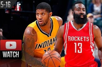 Les highlights du duel Paul George (25 pts, 10 rbds) – James Harden (34 pts, 7 asts)