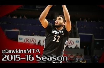 Les highlights du duo Karl-Anthony Towns (28 pts) – Andrew Wiggins (25 pts)
