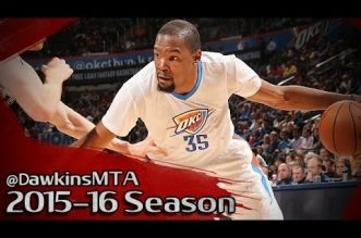 Les highlights du duo Kevin Durant (31 pts, 10 rbds) – Russell Westbrook (29 pts, 8 asts)