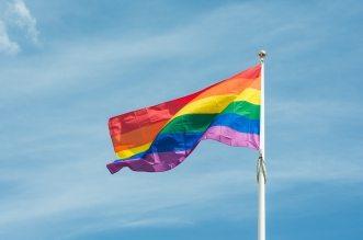 LGBT (Lesbian Gay Bi Trans) pride rainbow flag