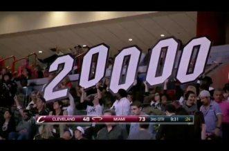 Vidéo : Dwyane Wade passe la barre des 20 000 pts en carrière