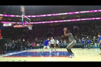 Vidéo: le workout de Joel Embiid avant le match des Sixers