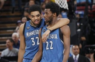 Andrew Wiggins et Karl-Anthony Towns
