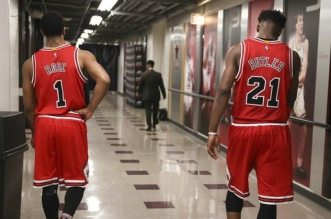 Derrick Rose et Jimmy Butler
