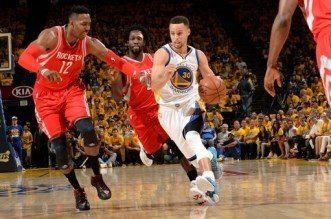 Houston Rockets contre Golden State Warriors, Stephen Curry et Patrick Beverley
