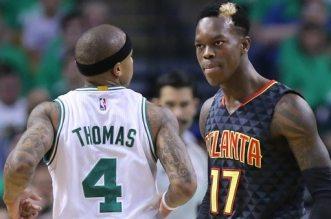Isaiah Thomas et Dennis Schröder Celtics Hawks