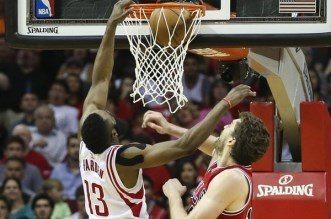 James HArden poster dunk