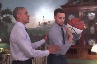 Stephen Curry et Barack Obama