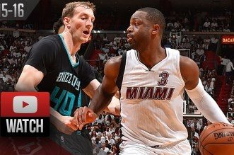 Les highlights de Dwyane Wade face aux Hornets: 25 points