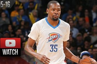 Les highlights de Kevin Durant (31 pts) et Russell Westbrook (26 pts, 11 asts)