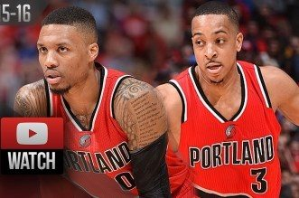 Les highlights du duo Damian Lillard (22 pts) – CJ McCollum (27 pts)