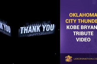 L'hommage vidéo d'Oklahoma City à Kobe Bryant
