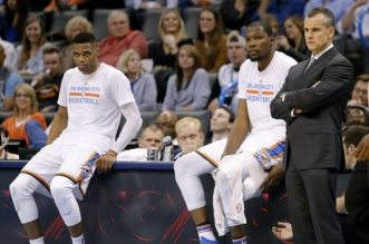 Kevin Durant et Russell Westbrook Thunder