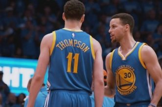Klay Thompson et Stephen Curry