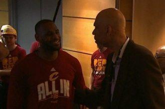 LeBron James et Kareem Abdul jabbar