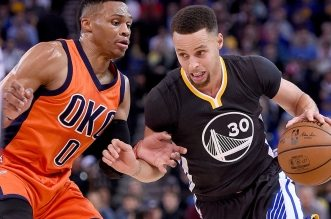 Russell Westbrook et Stephen Curry