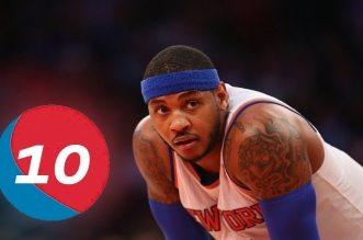 Bon anniversaire: le Top 10 en carrière de Carmelo Anthony